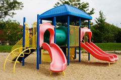 Children Playground. A colourful children playground equipment stock photo
