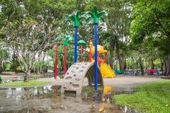 2 children playground Royaltyfria Foton