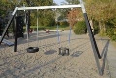 2 children playground 免版税图库摄影