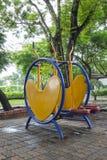 2 children playground Arkivfoton