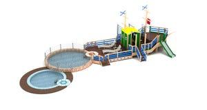 2 children playground Arkivfoto