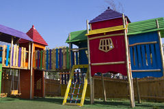 2 children playground Arkivbilder