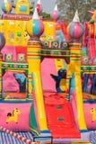 2 children playground Royaltyfria Bilder