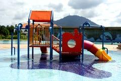 Children playground. Outdoor Children playground at water park Stock Photos