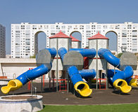Children playground. Near home building Stock Images