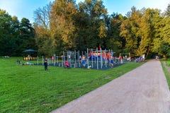 2 children playground Arkivbild