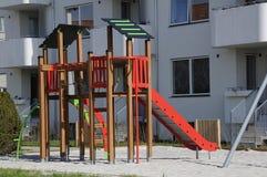 2 children playground 免版税库存图片