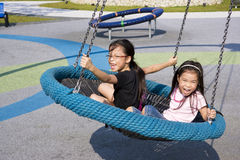 Children at Playground. Image of children having fun at a playground royalty free stock photos