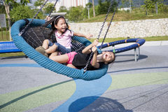 Children at Playground. Image of children having fun at a playground stock photography