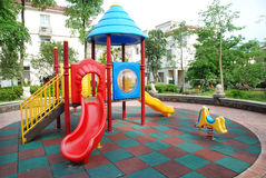 Children playground in the apartments Royalty Free Stock Images