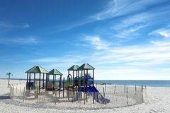 Children Playground on the beach Royalty Free Stock Image