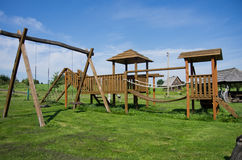 Children playground. Child playground on the grass Stock Photos