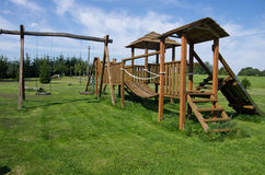 Children playground. Child playground on the grass Royalty Free Stock Photo