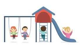 Children at playground. Stock Photos
