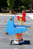 Children playground in a city, empty Royalty Free Stock Photo