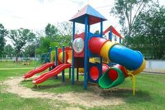 Children playground . Colorful children playground in park Stock Photos