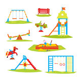 Children Playground, Colourful  Vector Illustration Royalty Free Stock Photo