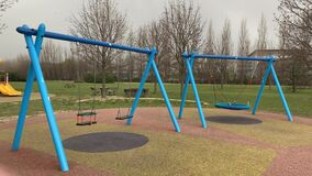 Children playground cordoned off during the covid-19 lockdown restrictions