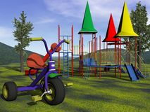 Children playground - 3d render Royalty Free Stock Image