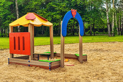Children playground. Epty children playground in the park Royalty Free Stock Image