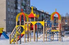 2 children playground för underhållningfestivalen för 21 strid adlar den stora byelorussian redaktörs- bilden det medeltida natio Fotografering för Bildbyråer