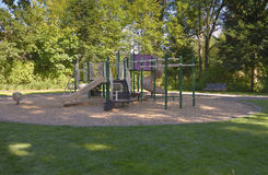Children playground Fairview Village park. Stock Image