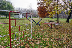 Children playground in the fall Royalty Free Stock Photography