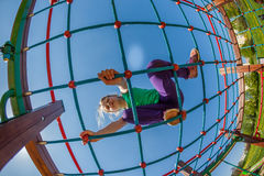 Children on the playground Stock Photography