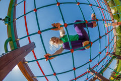 Children on the playground. Happy children on the playground royalty free stock image