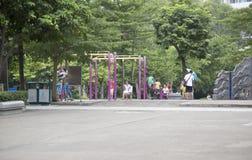 Children on playground Stock Photo