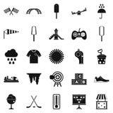 Children playground icons set, simple style Stock Photos