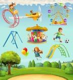 Children playground icons Royalty Free Stock Image