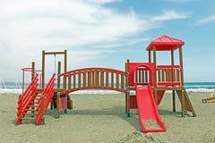 Children playground next to the sea Stock Image