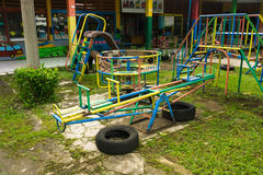 Children playground with nobody photo taken in Bogor Indonesia Stock Photo