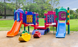Children playground in park Stock Photography