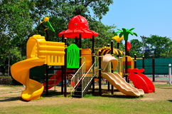 children playground in park Stock Image