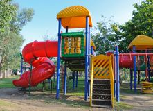Children playground in park Stock Photos