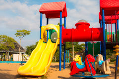 Children playground in park Royalty Free Stock Image