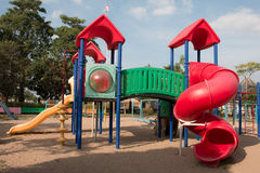 Children playground in park Royalty Free Stock Photography