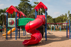Children playground in park Royalty Free Stock Images