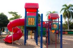 Children playground in park Royalty Free Stock Photo