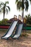 Children playground in park Stock Photography