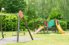 Children playground in the park. Stock Photos