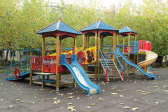 Children playground in the park Royalty Free Stock Images