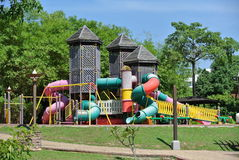 Children Playground in the park Stock Photo