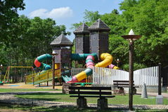 Children Playground in the park Stock Photos