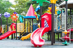 Children playground in a park Royalty Free Stock Photo
