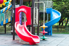 Children playground in a park Royalty Free Stock Images