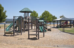 Children playground in a park Oregon. Stock Photography