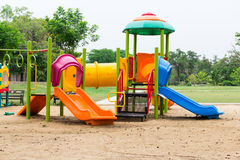 Children playground in park Stock Photo
